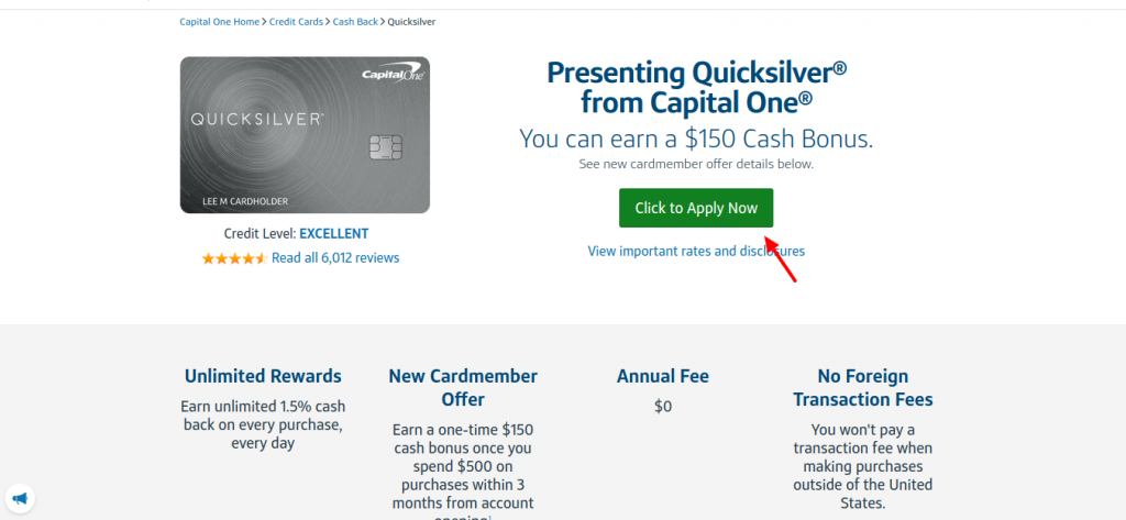 Capital one credit card online application status