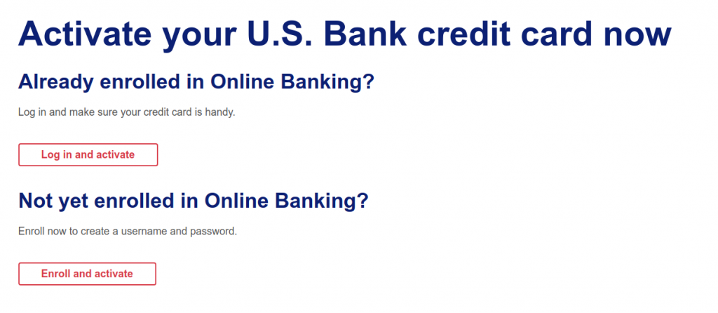 Activate your U S Bank credit card