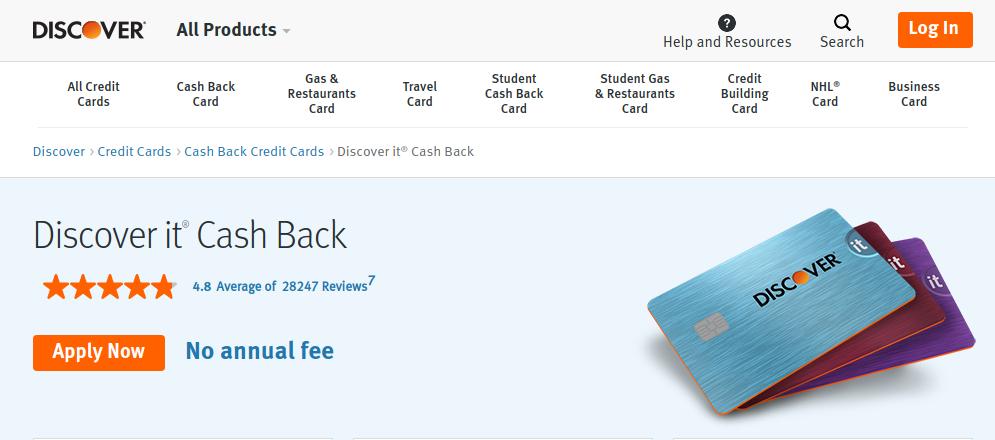 Discover it Cash Back Credit Card logo