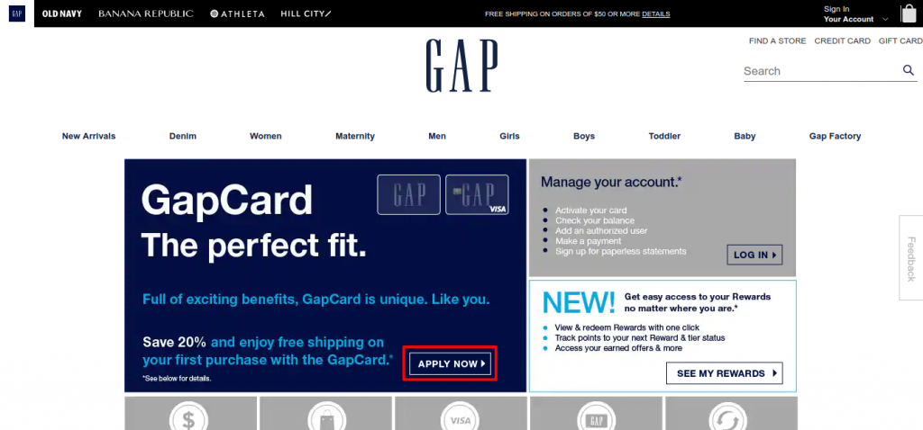 Gap Credit Card apply