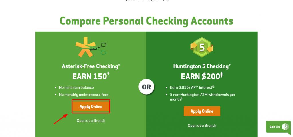 Huntington Bank Apply