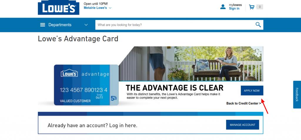 Lowe's Advantage Card Apply