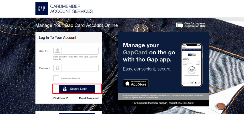 Manage Your Gap Credit Card Account