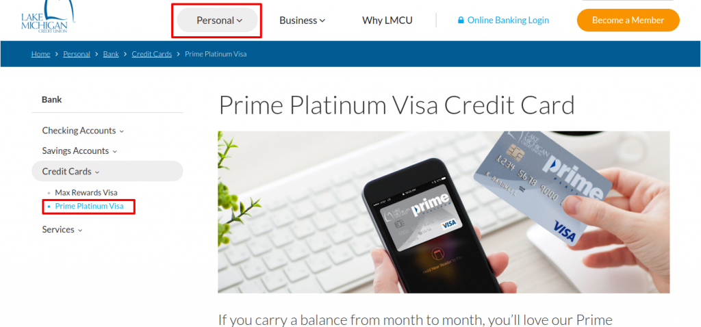 Prime Platinum Visa card