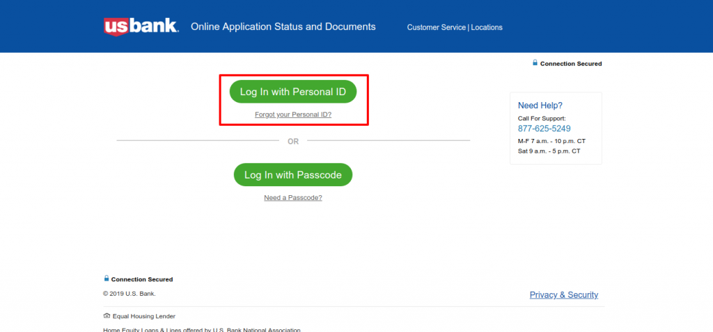 U S Bank Application Status