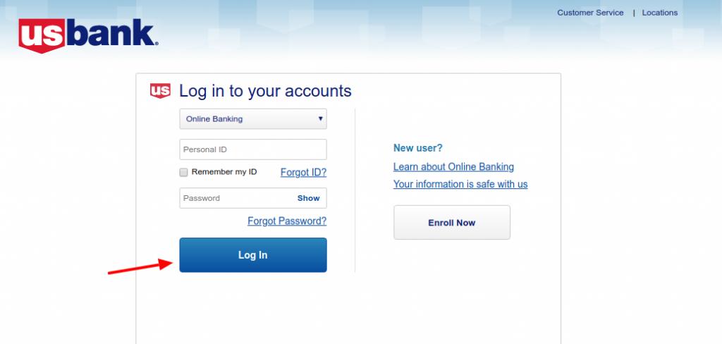 us bank login