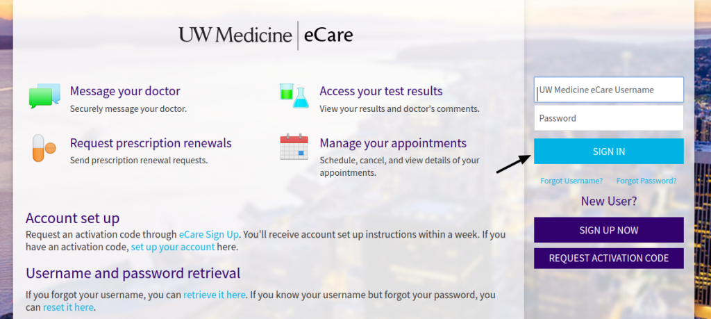 UW Medicine eCare Login