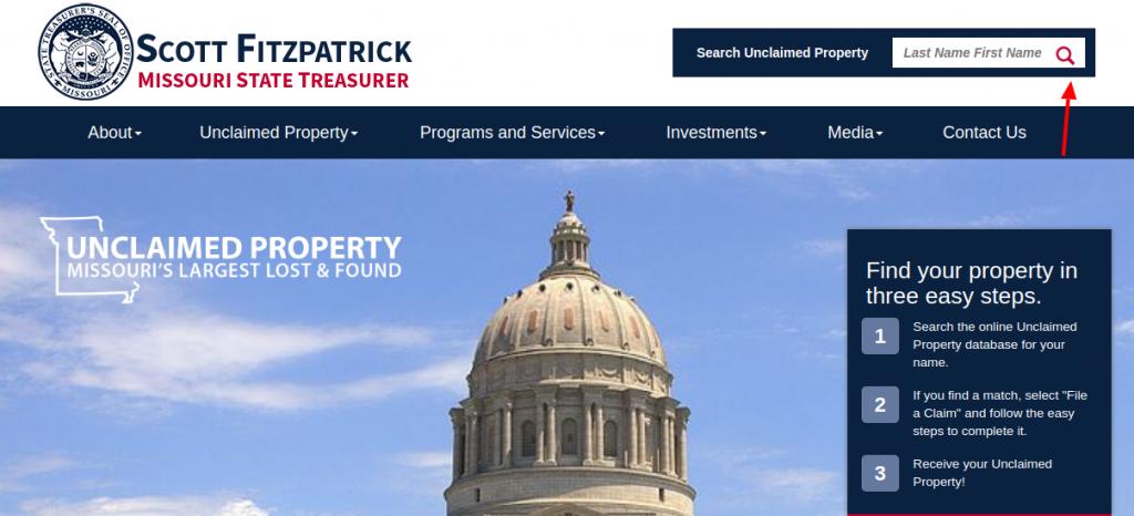 Missouri State Treasurer Proprty Search