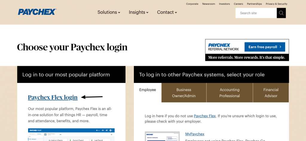 Paychex Flex Login Paychex
