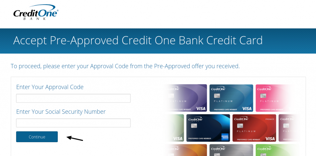 Accept your Credit One Bank Pre-Approval Offer