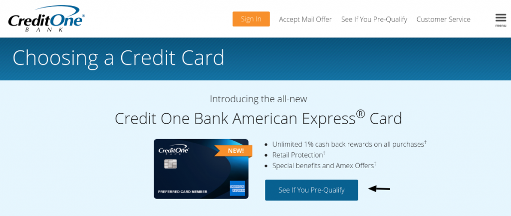 Credit One Bank Pre Qulify