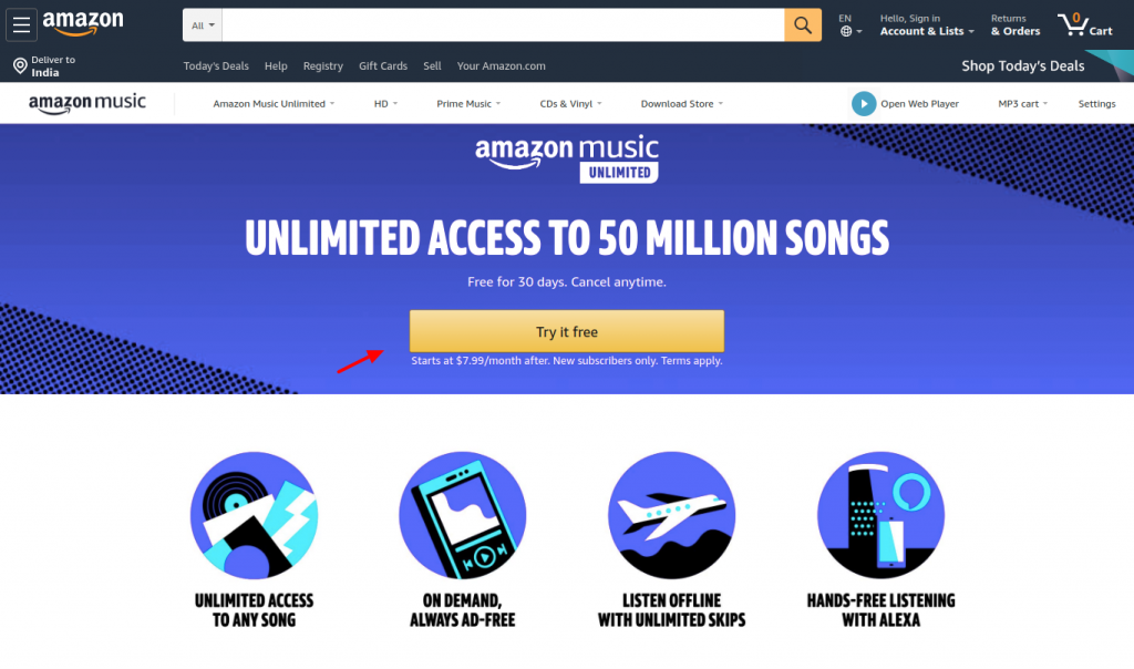 Amazon Music Try