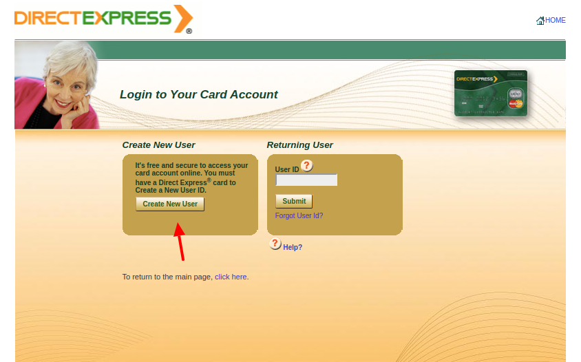 Direct Express Create Account