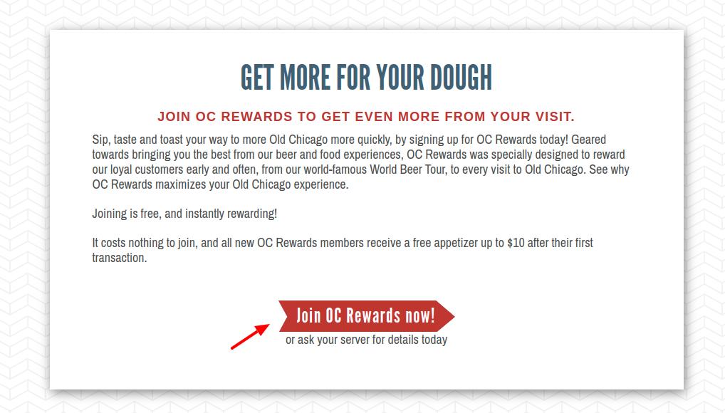 Old Chicago OC Rewards Join