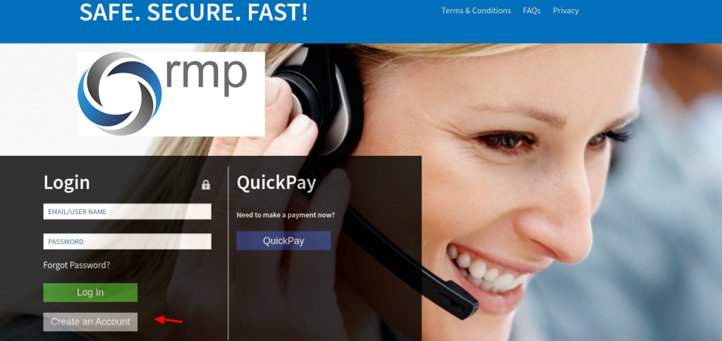 Quick pay Create Account