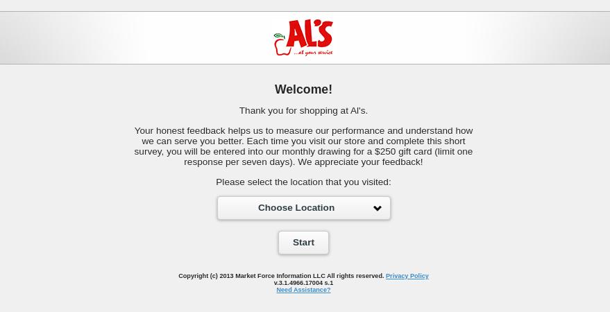 Al s Online Survey