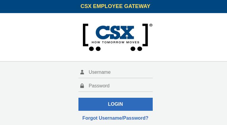 CSX EMPLOYEE GATEWAY
