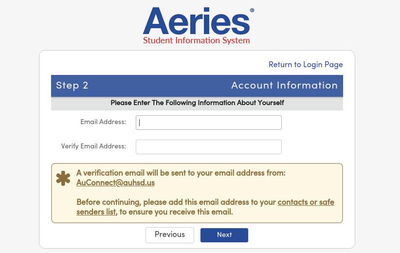 Create New Aeries Parent Student Portal Account