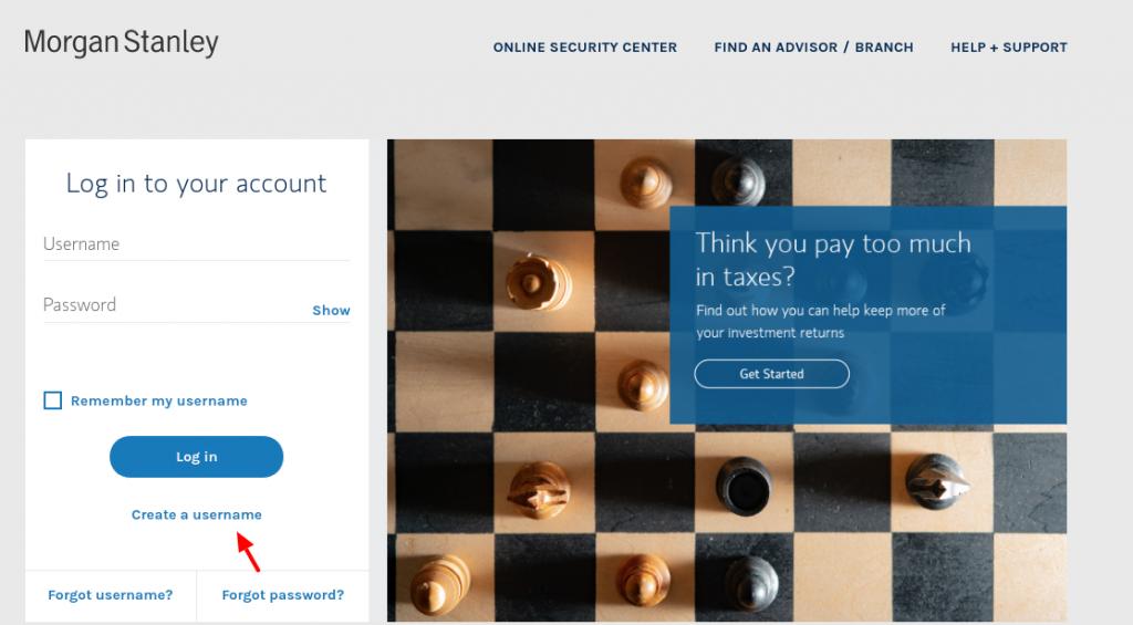 Morgan Stanley Create Account