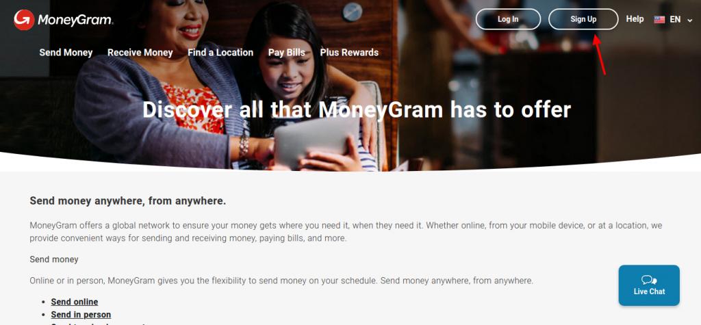 Moneygram Sign Up