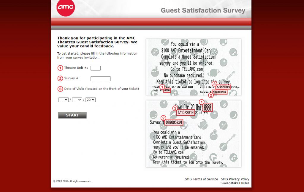 AMC Theatres Guest Satisfaction Survey