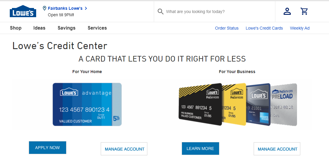 How to Enter Lowe's Credit eService