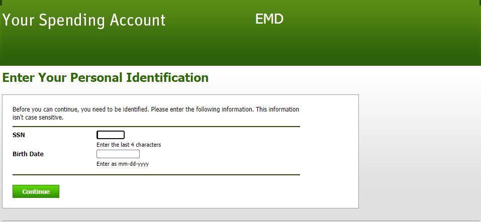 How to login Spending Account of EMD