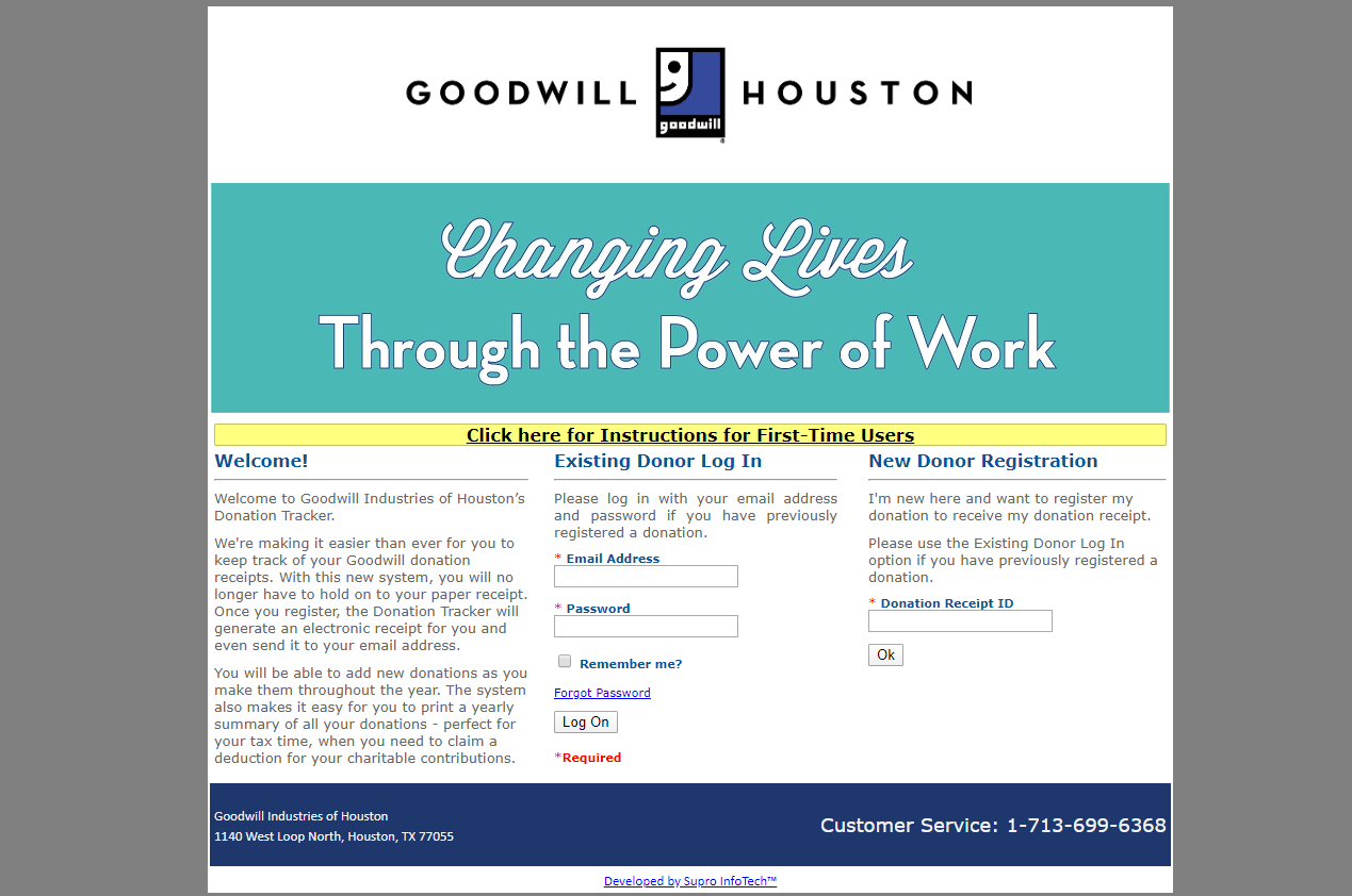 How to register as donor with Goodwill Houston