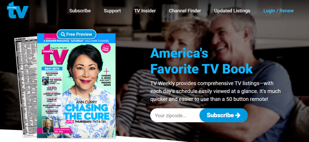 How to subscribe for TV Weekly Magazine