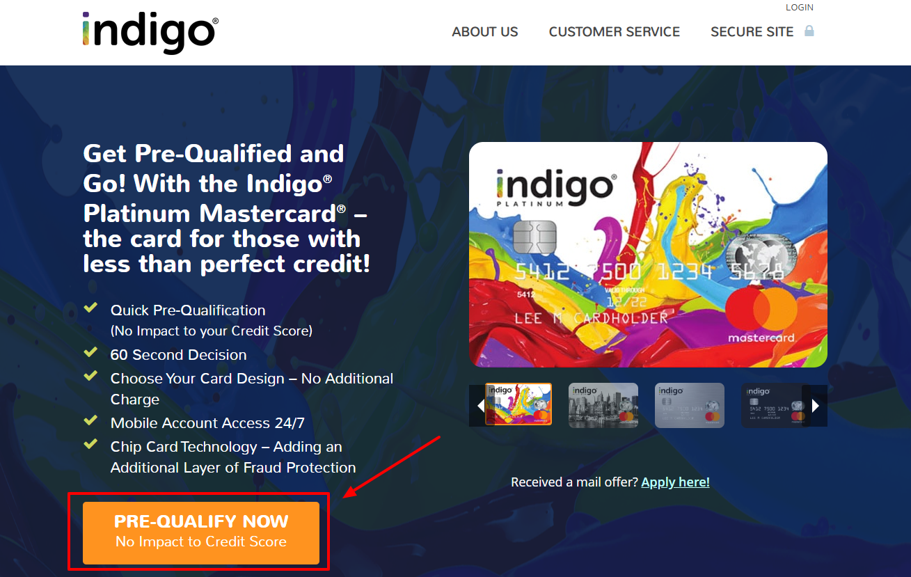 Login with Indigo Platinum Master Card