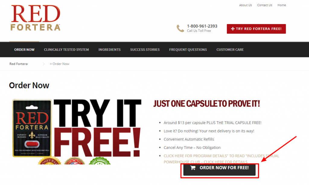 Try Red Fortera For Free
