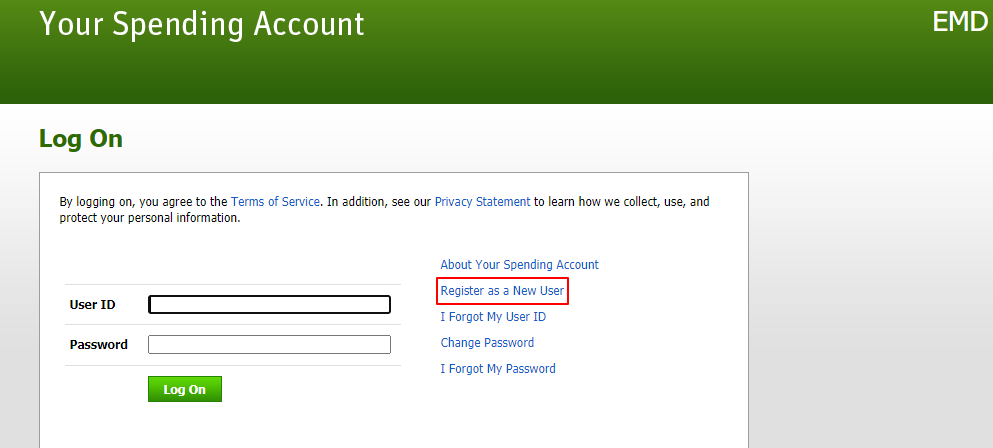 enter Spending Account of EMD
