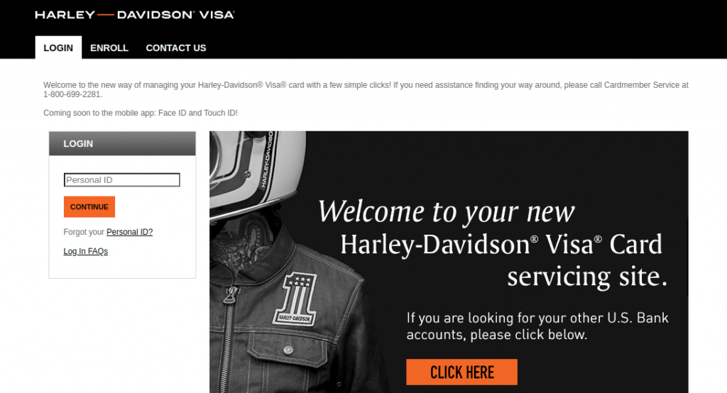 Harley Davidson Visa Credit Card login