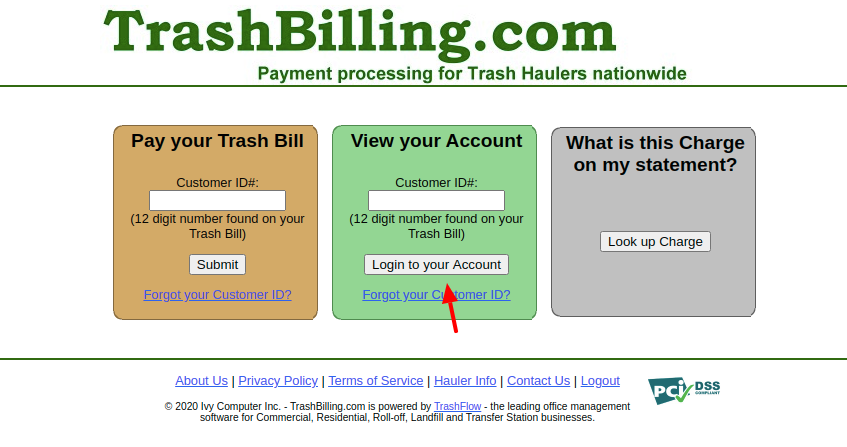 Pay your trash Login