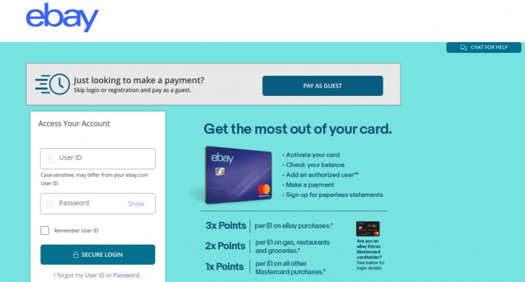 ebaymastercard.syf.com/login - Pay Your eBay MasterCard Bill Online
