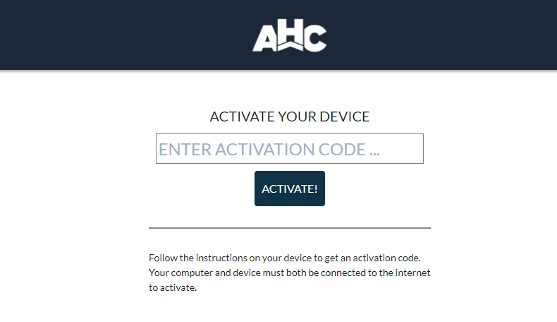 AHC GO Activate