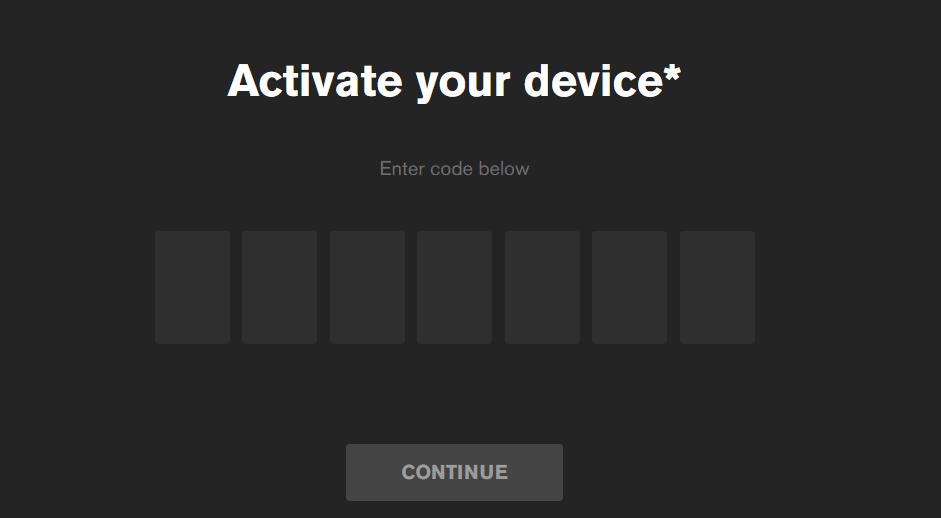 MTV Device Activation