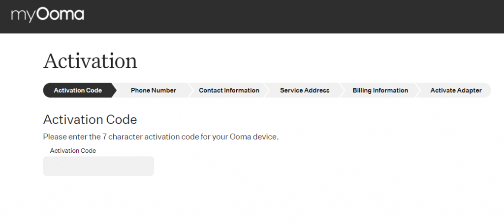 ooma activate