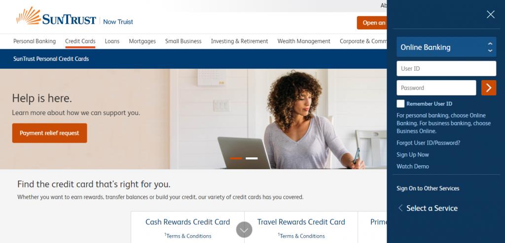 SunTrust Credit Cards Login