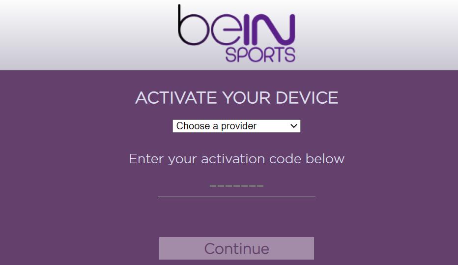 bein sports activate