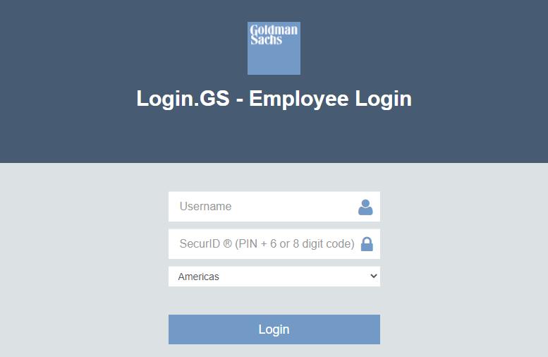goldman sachs employee login