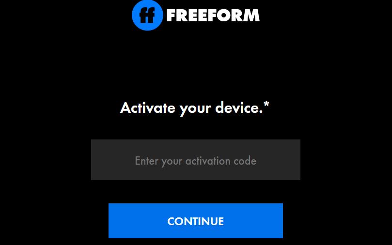 Freeform Activate Logo
