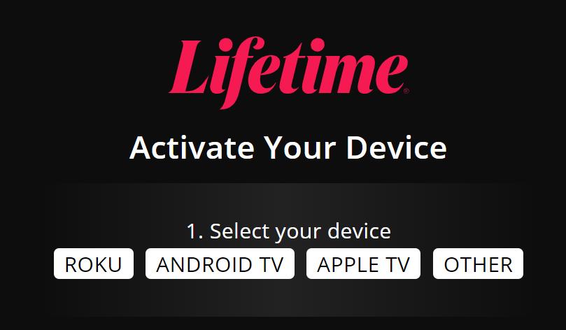 mylifetime activate